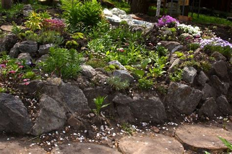 Rock Garden Plants For Shade Landscaping With Rocks Plants Landscaping Alpine Hill Hill Pinterest Landscaping