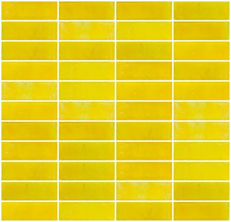 yellow subway tile 1x3 inch matte sunshine yellow glass subway tile stacked