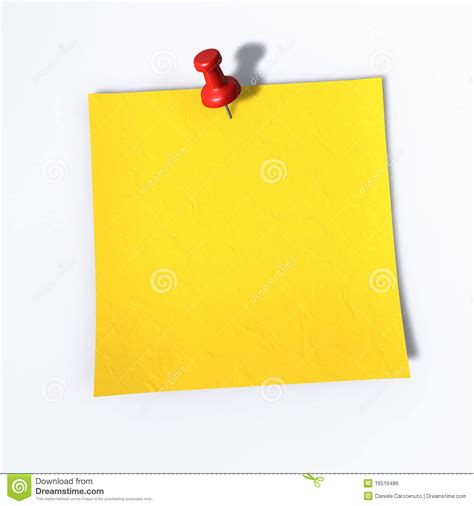 Memo Template Vector Post It A Tack On A Memo Note Royalty Free Stock