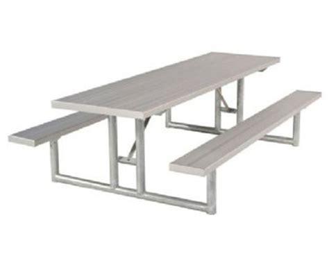 galvanized picnic table frame 6 foot rectangular aluminum picnic table galvanized