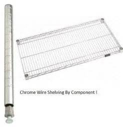 chrome wire shelving accessories chrome shelving parts from a plus warehouse