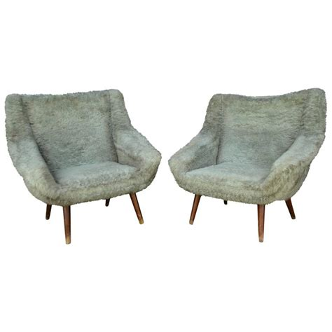 Faux Fur Chairs by Vintage Gray Faux Fur Chairs For Sale At 1stdibs
