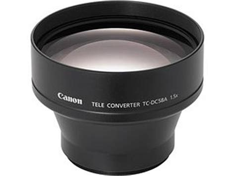 Lens Att 58mm canon tc dc58a 58mm 1 5x tele converter lens