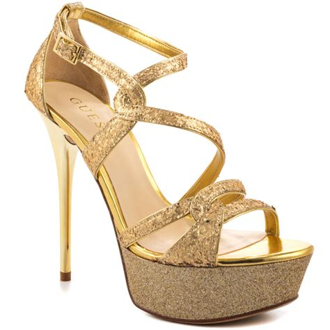 guess gold high heels guess duriany gold texture shoes ijshoes