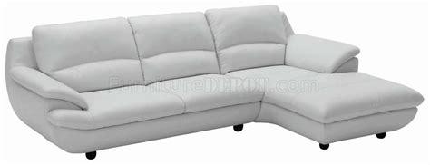 light grey full leather contemporary elegant sectional sofa