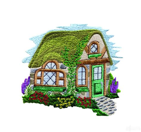 embroidery design house charming cottages 16 embroidery design