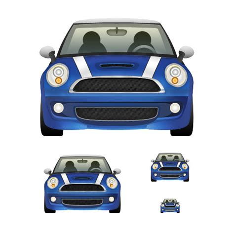 car section how to design a detailed mini cooper icon in photoshop