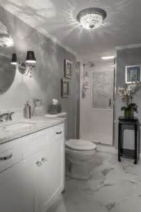 Glam Powder Room - vintage hollywood glamour art deco inspired bath modern bathroom other metro by stacy l