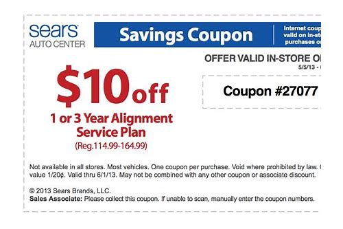 sears coupon code automotive