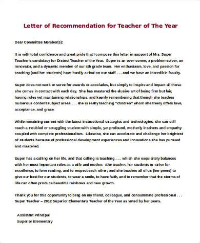 sle letters of recommendation for a 9 exles in word pdf
