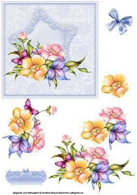 spray decoupage floral spray decoupage topper blue cup249873 1209