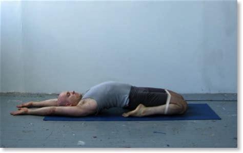 yoga reclining hero pose supta virasana