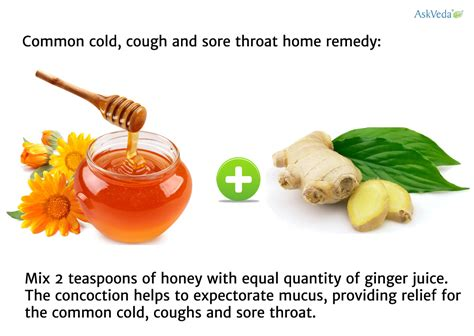 common cold cough and sore throat home remedy