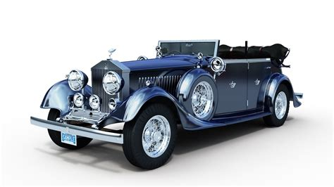 rolls royce phantom ii 3d model max cgtrader