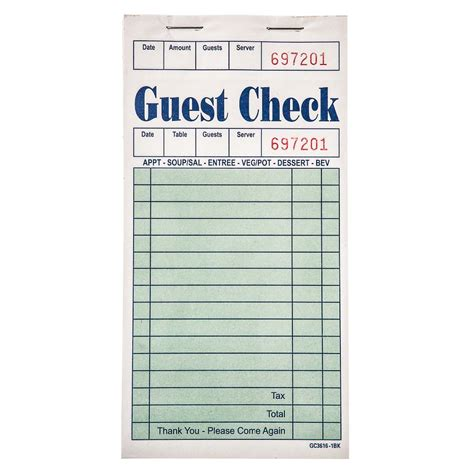 quick 100 check in the house beautiful name this color restaurant bill menu waiter order book buy restaurant