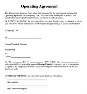 Partnership Operating Agreement Template llc operating agreement 8 download free documents in