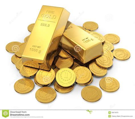 acquisto lingotti oro banca lingotti e monete dell oro illustrazione di stock