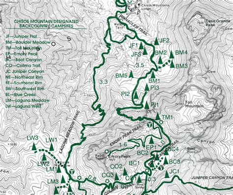 texas hiking trails map big bend 2014