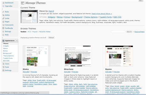 wordpress tutorial using themes wordpress tutorial 7 changing the theme of your blog