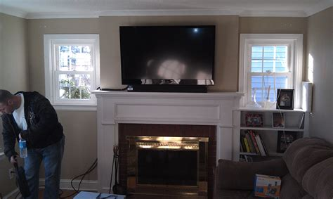 Mount Tv On Fireplace by Wethersfield Ct Mount Tv Above Fireplace Home Theater
