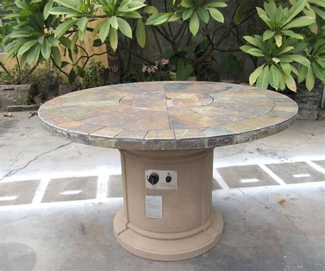 slate firepit outdoor slate pit outdoor dining table