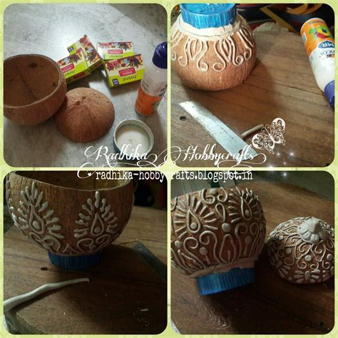 coconut craft for hobby crafts coconut shell box