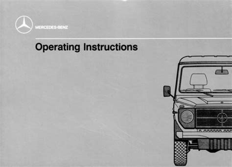g class 463 gelaendewagen owners manuals and operating instructions g class 460 gelaendewagen owners manual and operating instructions