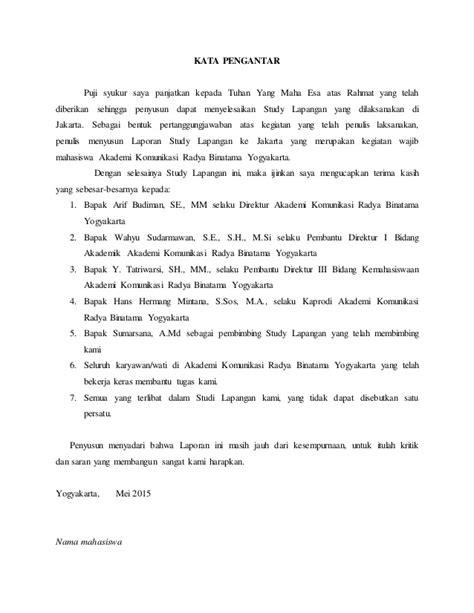 format laporan kunjungan lapangan format laporan studi lapangan broadcasting ke jakarta 2015