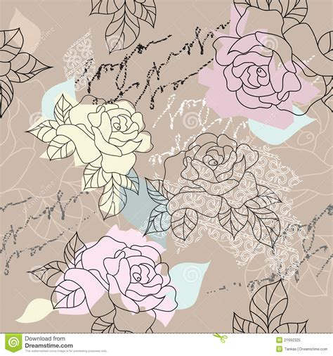 Free Decoupage Downloads - background seamless decoupage stock vector image 21692325