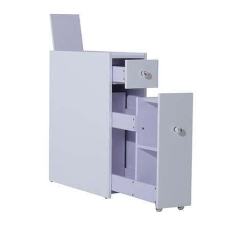 narrow storage cabinet for bathroom homcom narrow wood floor bathroom storage cabinet