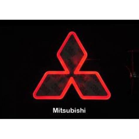 mitsubishi evo emblem led decal logo light emblem mitsubishi evo x lancer