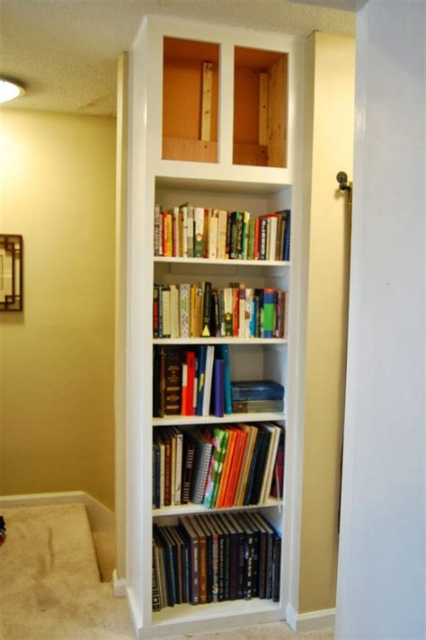 diy built in bookshelves with cabinet below furniture white stained wood built in book cabinet with