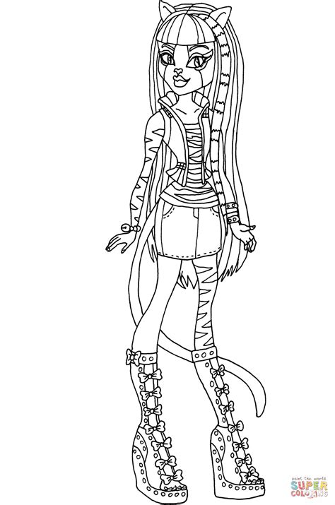 sw monster coloring page monster high howleen