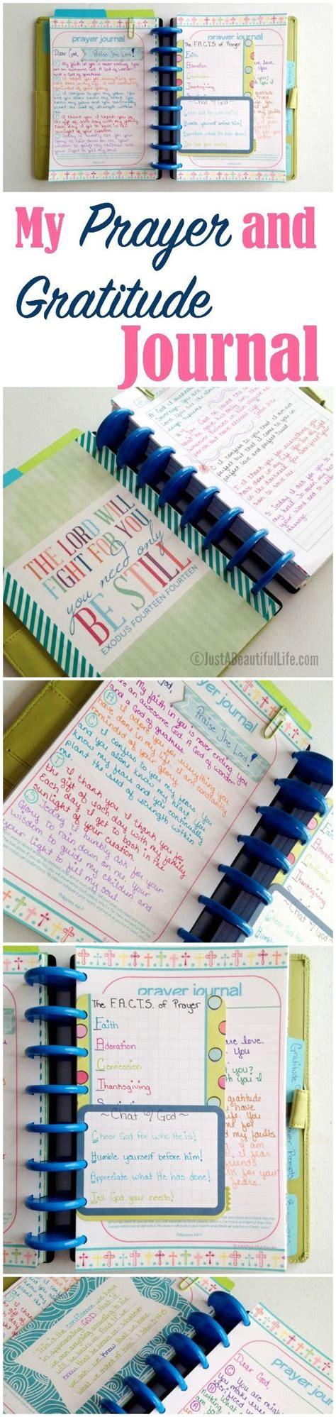a simple set up prayer and gratitude journal faith