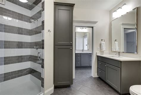 gray painted bathroom cabinets family home interior ideas home bunch interior design ideas