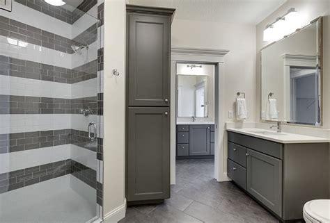 gray cabinets bathroom family home interior ideas home bunch interior design ideas
