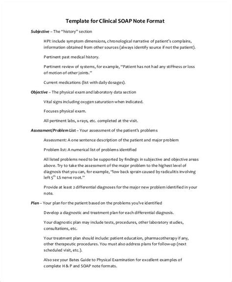 36 Notes Sle Sle Templates Comprehensive Soap Note Template