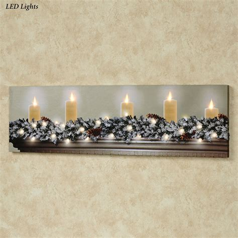 white christmas led lighted canvas wall art