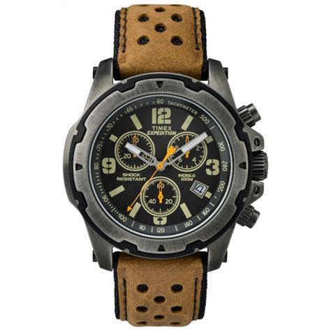 Expedition E6318 Black Leather timex s t49986 expedition rugged