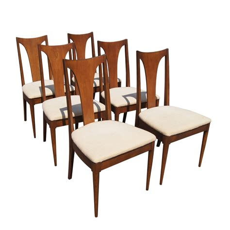 Broyhill Dining Table And Chairs Vintage Sculptra Broyhill Expandable Dining Table And 8 Chairs Set