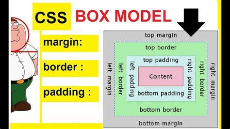 css tutorial margin padding css box model css margin padding border youtube
