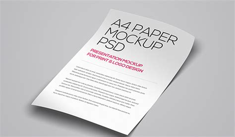A4 Paper PSD Mockup Template ? 37  Free PSD, Indesign