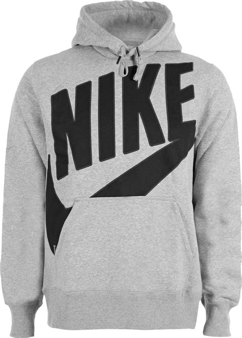 nike pl brushed oth hoodie grey heather black