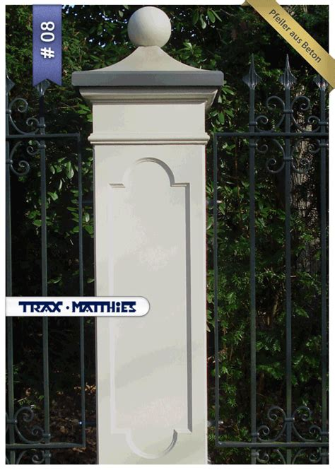 timeless design pfeiler concrete gate posts bau haus
