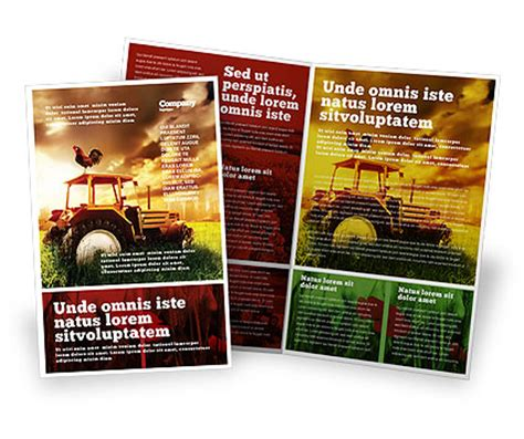 Summer On The Farm Brochure Template Design And Layout Download Now 04809 Poweredtemplate Com Free Agriculture Flyer Templates