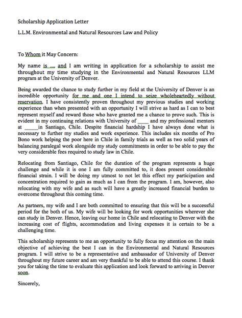 Scholarship Interest Letter Scholarship Application Letter Sle Http Resumesdesign Scholarship Application Letter