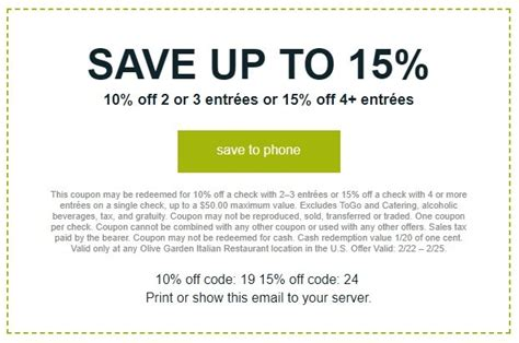 printable coupons olive garden restaurant olive garden 15 off coupon 2018 save up to 15 off