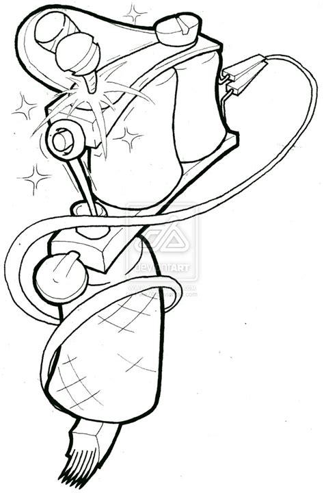 tattoo flash gun tattoo machine drawing google search tattoo flash