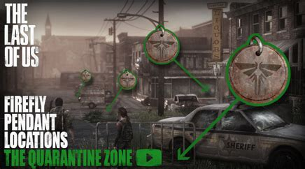 the last of us firefly pendant locations the