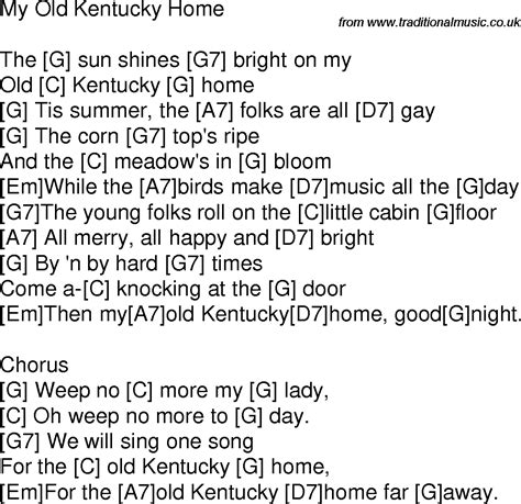 kentucky songs lyrics